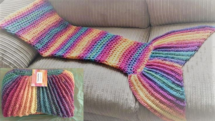 """""""I have written this pattern in UK and US terms. Its an easy to follow picture tutorial. It would take an experienced crocheter two evenings or 7 hours approx. to complete. Its suitable for beginners and pattern is easily adjusted for preference (Bigger tail, wider, longer fit) Sizes Toddler – Small Child, Junior – Teen, Small adult – Adult Materials: 2 strands of DK yarn or 1 strand of super bulky. Any multi-colour or single bold colour ..."""