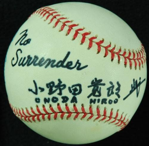 "One of a Kind"" Hiroo Onoda Single-Signed OAL Baseball ""No Surrender"" () - PSA/DNA Certified - Autographed Baseballs ** Find out more about the great product at the image link."