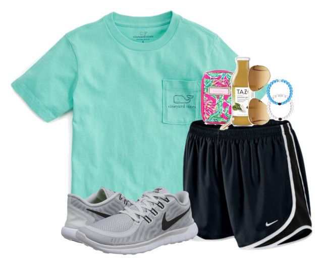 """""""FaceTiming @evamstewart24"""" by judebellar03 ❤ liked on Polyvore featuring Vineyard Vines, NIKE, Lilly Pulitzer and Ray-Ban"""