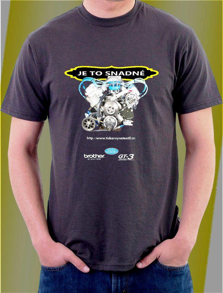 3D návrh potisk na tričko
