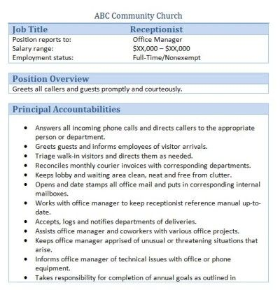 Přes 25 nejlepších nápadů na téma Receptionist Jobs na Pinterestu - receptionist job resume
