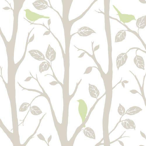 Nuwallpaper Grey Green Sitting In A Tree Peel And Stick Wallpaper Wall Decor Borders Best Buy Canad Tree Wallpaper Peel And Stick Wallpaper Nuwallpaper