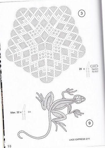 renda de bilros / bobbin lace esquemas / patterns
