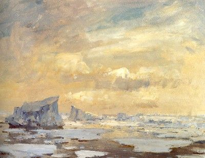 Edward Seago: The Antarctic paintings 'Antarctic Icebergs' © The Estate of Edward Seago