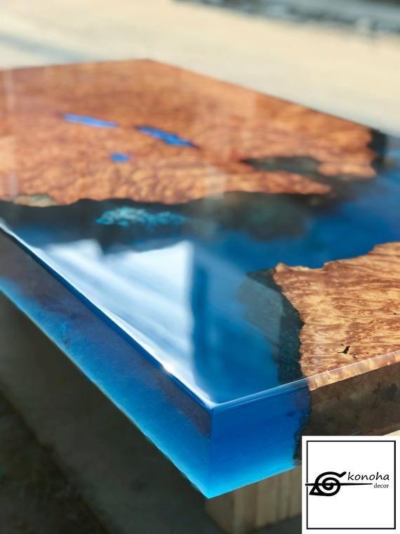 Ausverkauft Epoxy Harz Transparent Couchtisch Handgefertigt Eitern