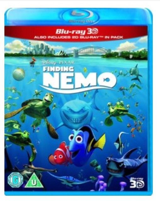 Disney Finding Nemo - In 2D & 3D **NEW & SEALED** BLU RAY
