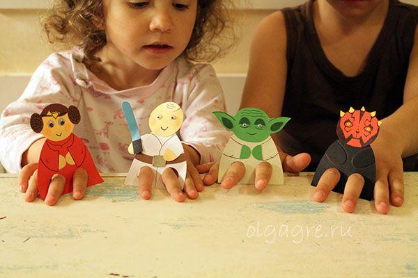 Звездные войны - куклы на пальцы