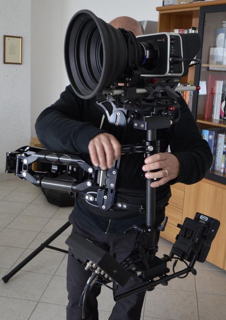 Blackmagic Cinema Camera on SmartSystem Steadycam: SmartCAM Arm X-lite, Mini Sled and Vest Lite