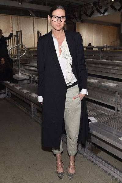 Jenna Lyons Photos Photos - J. Crew Creative Director Jenna Lyons attends the DKNY Women's Fall 2016 fashion show during New York Fashion Week: The Shows at Skylight Modern on February 17, 2016 in New York City. - DKNY Women's - Front Row - Fall 2016 New York Fashion Week: The Shows