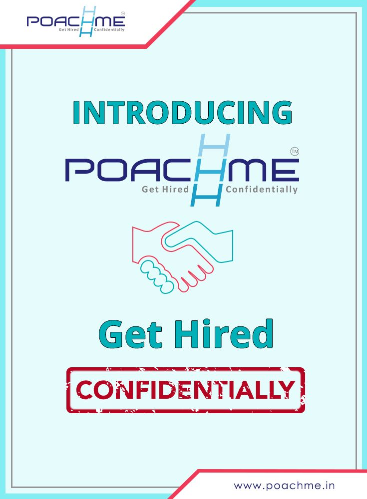 Introducing PoachMe: Get Hired Confidentially To know more, read our blog post: [Click on the image] #poachmein #jobs #handshake