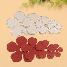 Plantillas de Troqueles De Corte de Metal de Flores para DIY Scrapbooking/álbum de foto Decorativo En Relieve DIY Tarjetas De Papel(China (Mainland))