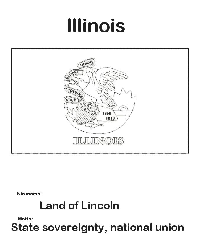17 Best Images About States Coloring Pages On Pinterest Illinois State Flag Coloring Page