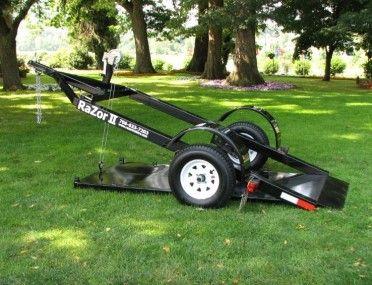 The Razor Motorcycle Trailer, ground loading trailer