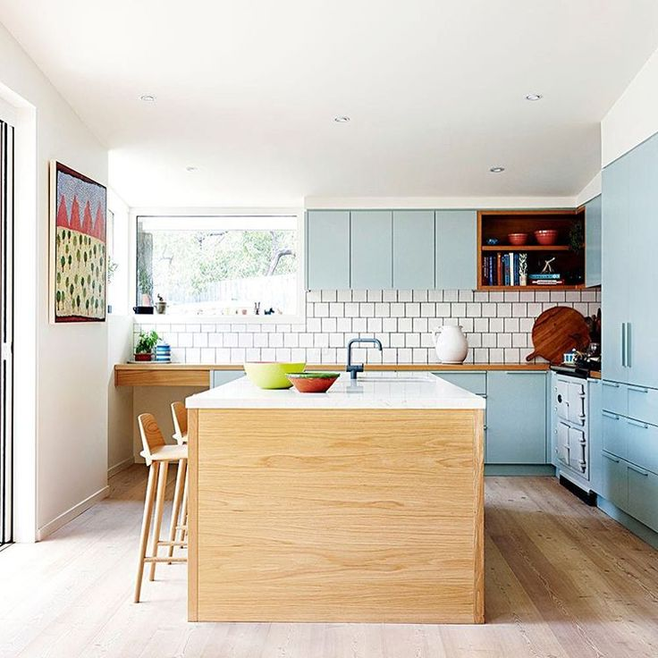 """""""You could never be blue if this was your kitchen! Straight out of the pages of our fresh new February issue is @arabellaramsay's delightful cooking hub.…"""""""