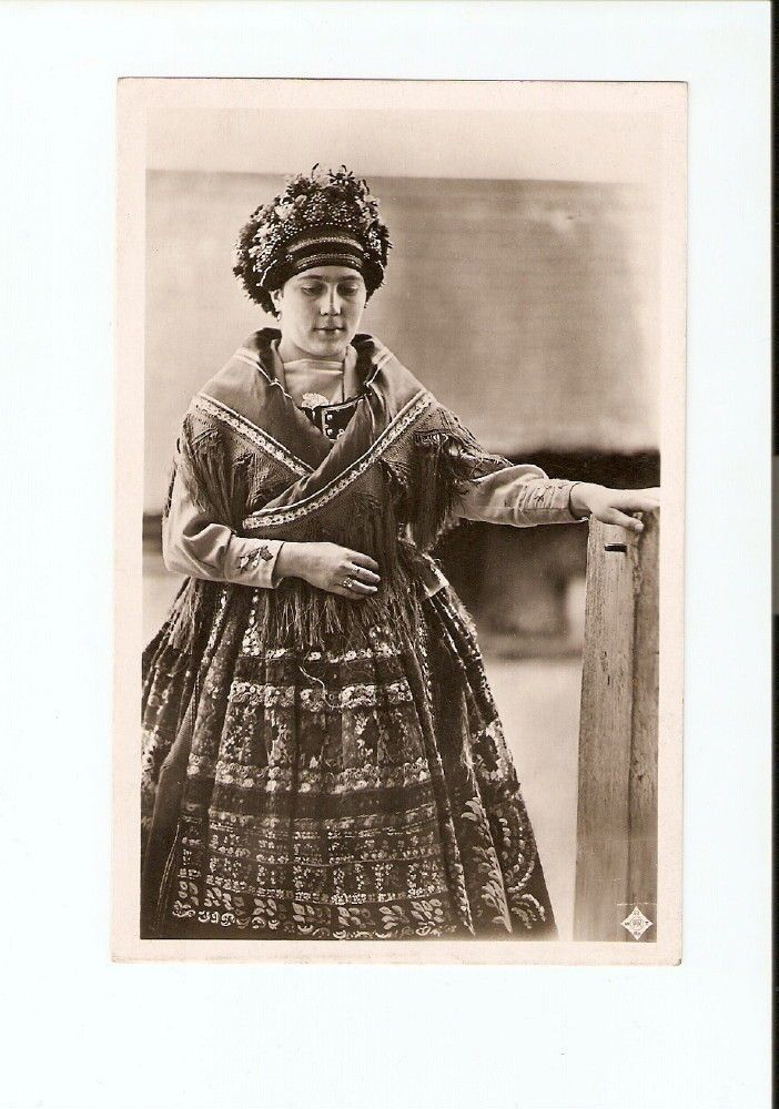 Hungarian Traditional Folk Dress Girl Sarkoz Postcard | eBay