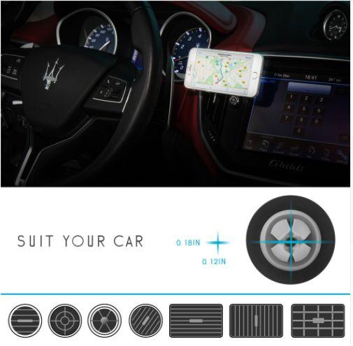 Smart Phone Universal 360Degree Car Holder / Magnetic Air Vent Mount Smartphone Dock-Holder