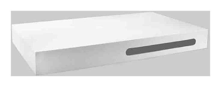 Plan Vasque Suspendu 90x50cm, Composite Blanc Mat avec porte serviette - 670 - Salle de bain, WC