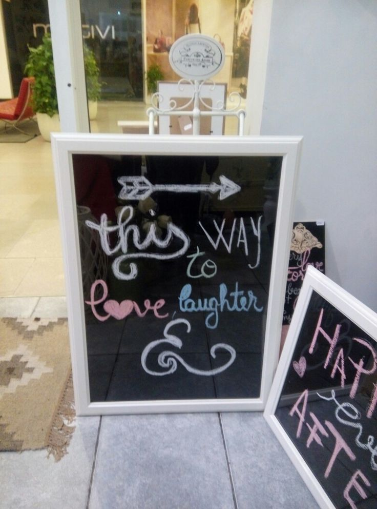 Chalk, paint and ikea frame