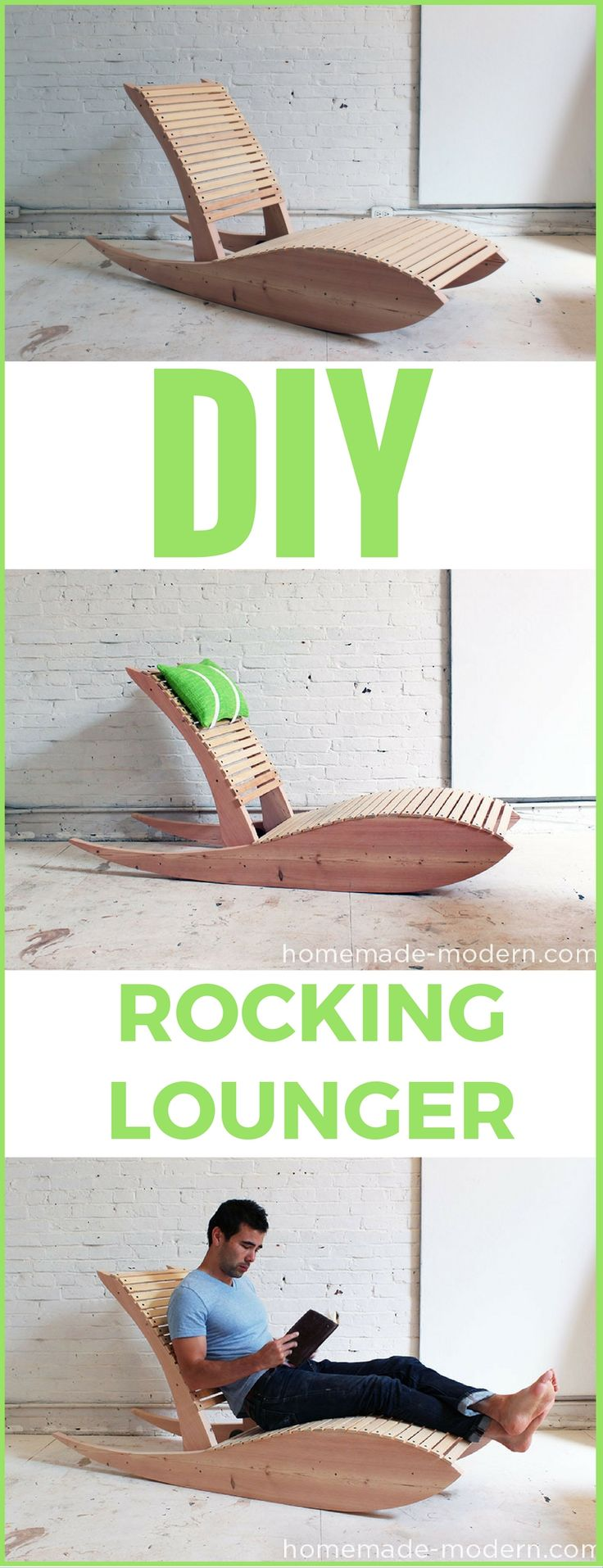 Modern outdoor chair diy build youtube - Diy Rocking Lounger Http Vid Staged Com D1gt Great Project