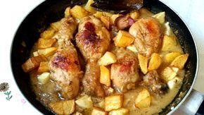 Pollo en pepitoria o pollo al huevo. Receta de cocina muy fácil para que la disfrutes en días festivos. Una receta tradicional.