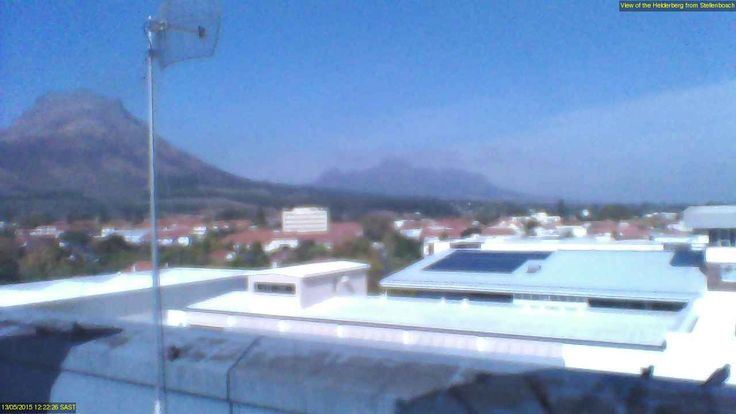 Helderberg from Stellenbosch - http://weather.sun.ac.za/webcam.php