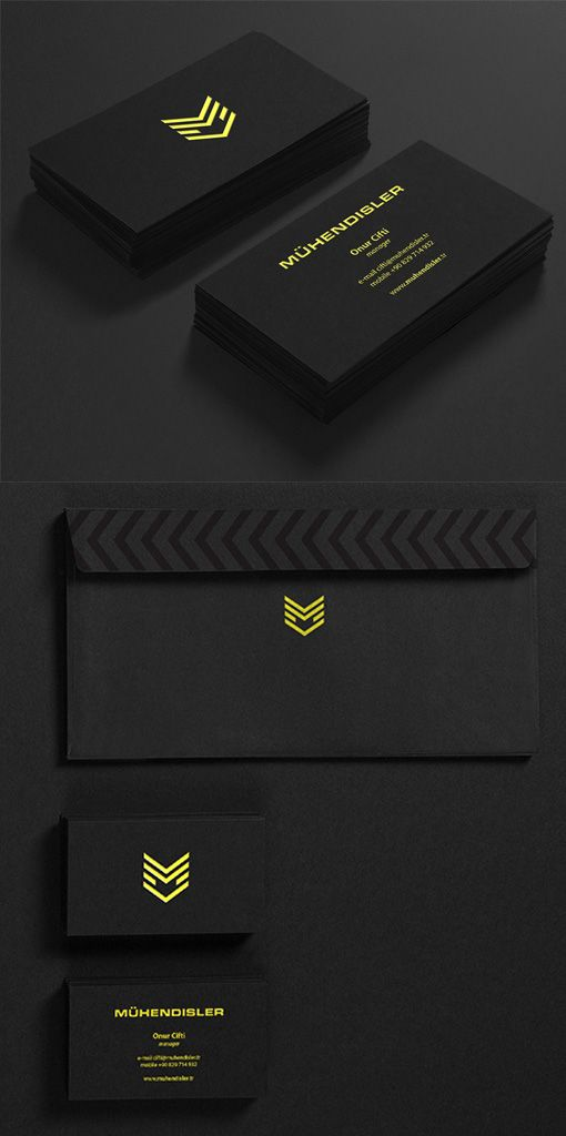 Bold Neon Yellow And Black Minimalist Business Card For A Construction Company