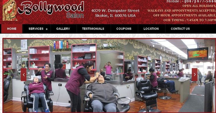 Bollywood Salon has been serving the Skokie Il area for 10 years. We offer an services including threading, waxing, facials, hair, eyelash, piercing, etc.