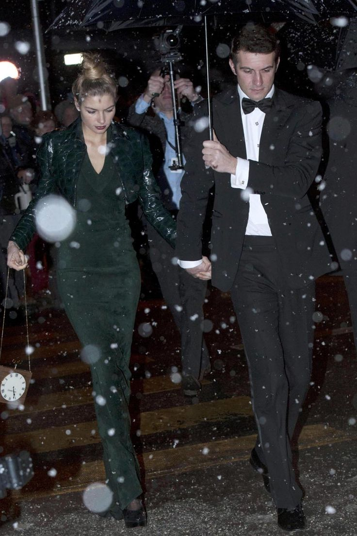 Jessica Hart y Stavros Niarchos
