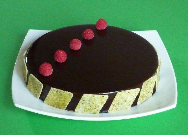 Torta cioccolato pistacchio lamponi