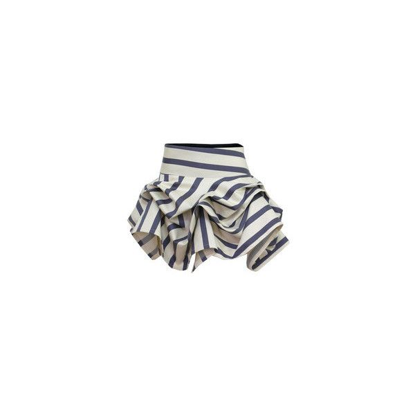 Kelly Ewing Short Hitched Grey & White Skirt at Coggles.com online store