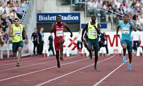 Adam Gemili takes another 100m third place at Oslo's Bislett Games • Gemeli finishes behind Richard Thompson and Jimmy Vicaut • Richard Ki...