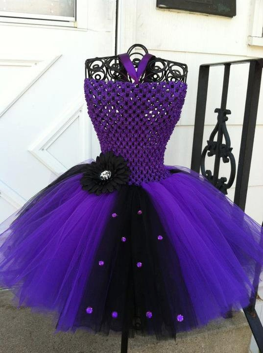 Dark purple and black tutu dress 2-3T. $30.00, via Etsy.