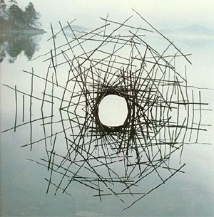 Goldsworthy Forked sticks in the water 1976