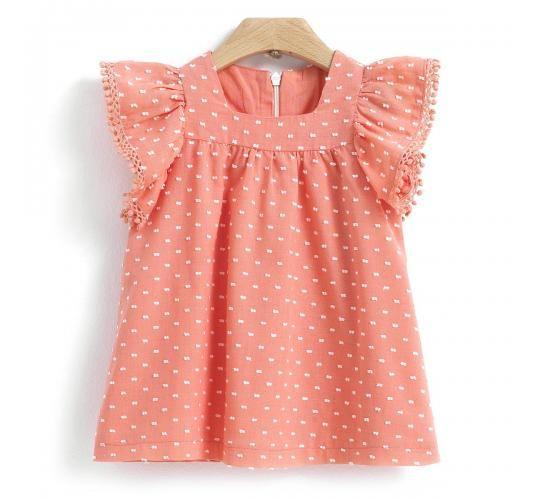 Παιδικό Φόρεμα με Pom Pom