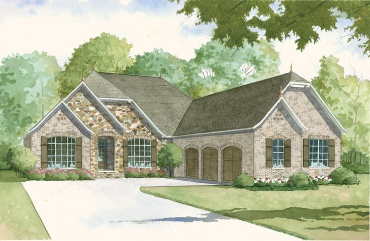 Huntcliff Manor European Home European House Plan Front of Home - 155D-0009 | House Plans and More from houseplansandmore.com