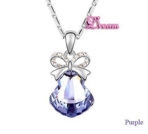 Spedizione gratuita sacchetto del regalo, hotselling classico cristallo collana pendente conchiglia/abito da sposa/partito regalo/insieme dei monili, 5986q