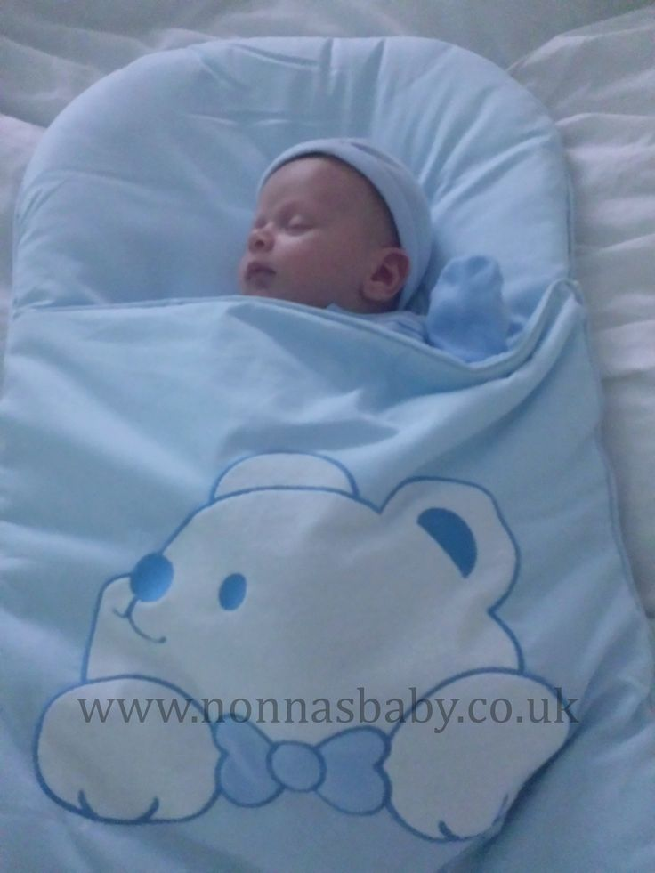 """Little Lucas And His Big Friendly Blue Bear Mat!!! Baby Lucas is 5 weeks old, and loves sleeping in his nap mat. Mummy Sam told us """"My baby is 5 weeks old and would not settle in his Moses basket until we got the mat."""" Nonna is delighted that the nap mat has helped! :-)"""