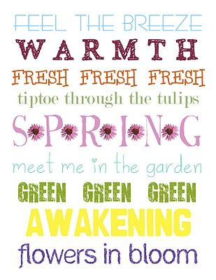 60 Spring Time Free Printables