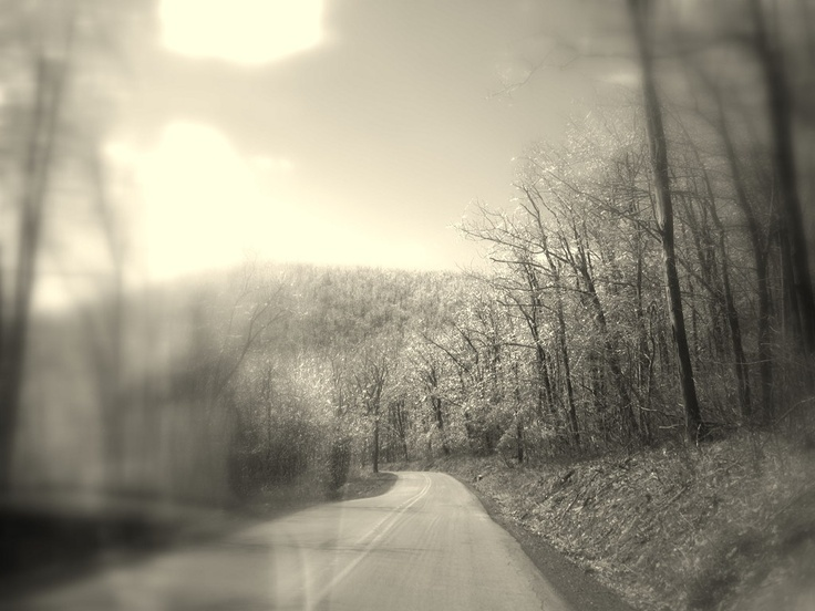 Frozen Pennsylvania Mountains in January