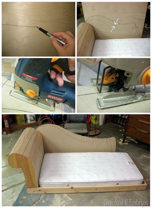 Diy Toddler Bed Fainting Couch Part 2 Chaise