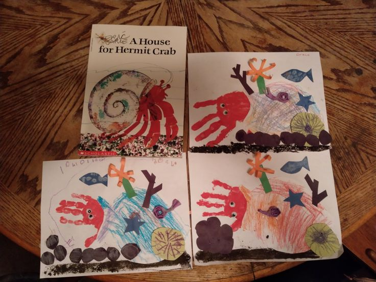 A House for Hermit Crab craft, Eric Carle