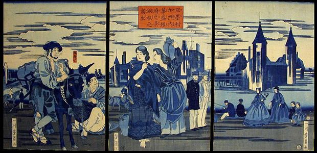 The artists who created Yokohama-e often used Western newspapers as their source material.