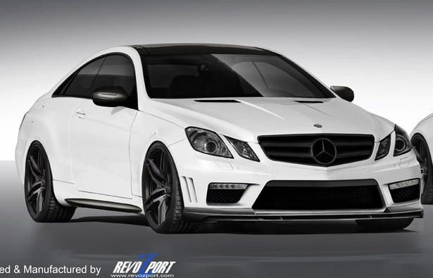 White Mercedes Benz E350 coupe