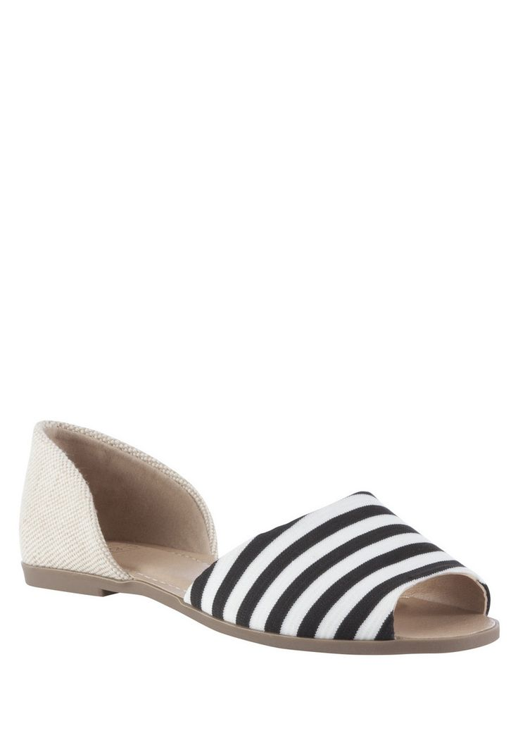 clothing at tesco f f striped peep toe two part pumps. Black Bedroom Furniture Sets. Home Design Ideas