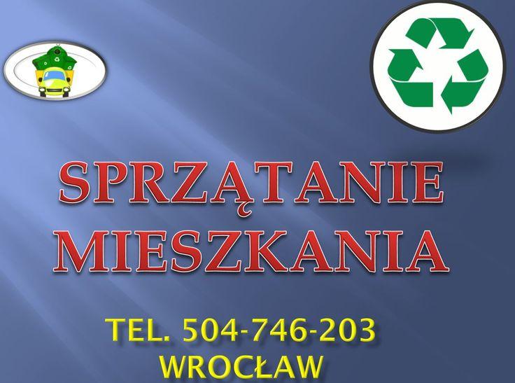Usługi sprzątania we Wrocławiu, tel 504-746-203, mycie okien w domu i firmie. Posprzątanie i wywóz zbędnych rzeczy. Kompleksowe sprzątanie, mycie okien, czyszczenie oraz wywóz odpadów i śmieci.