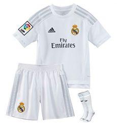 Conjunto Niños 1ª Equipacion Real Madrid 15/16