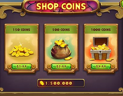 Shop Coins mobile game