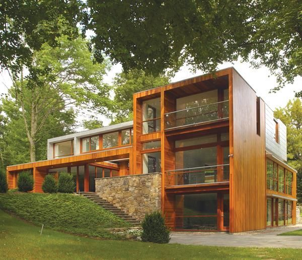Early 1950s house by New Caanan, CT architect Eliot Noyes. Renovated by architect Joeb Moore.