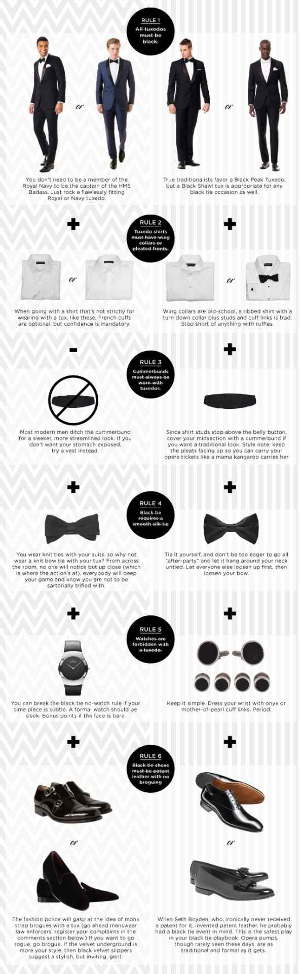 But wait! Maybe you're in the market for a tux? Consider these rules…that you should break.