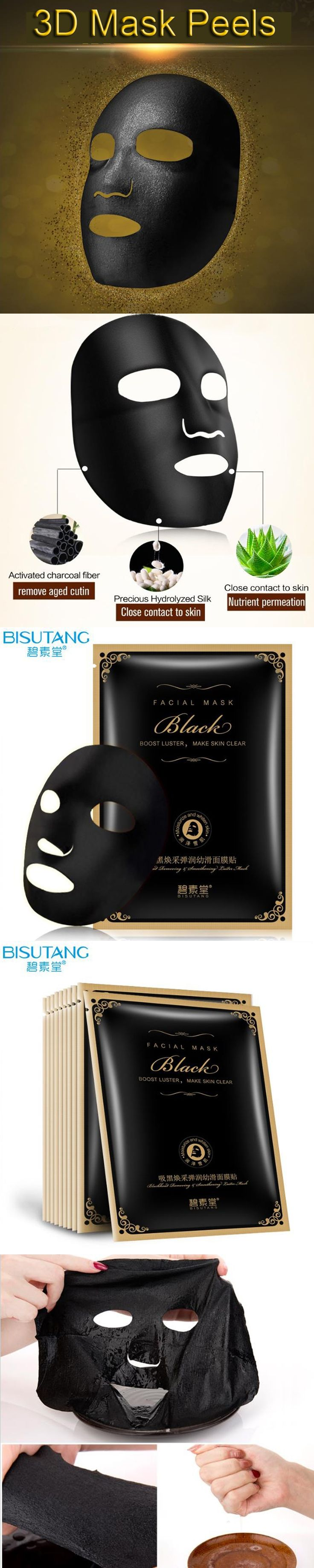BISUTANG Black Mask Whitening Cream Face Care Suction Facial Mask Remove blackheads Remover Acne Treatments Cleaner  tony moly